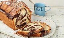 Marble cake, reduced fat variant