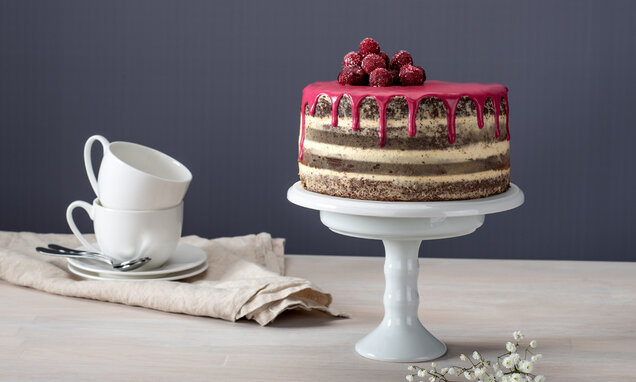 schoko nuss layer cake