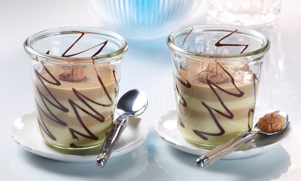 Amarettini-Kaffee-Pudding